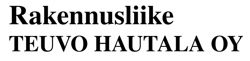 Rakennusliike Teuvo Hautala logo
